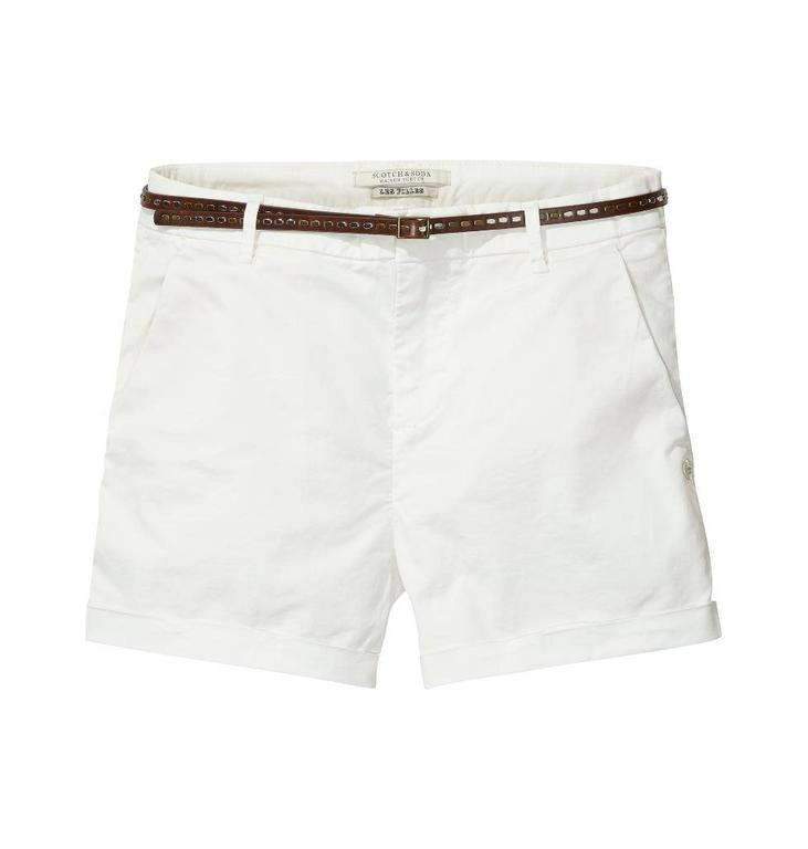 Maison Scotch White Short 137002