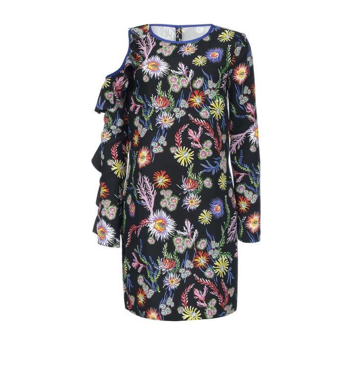 Pinko Black/Multicolour Dress Immortalare