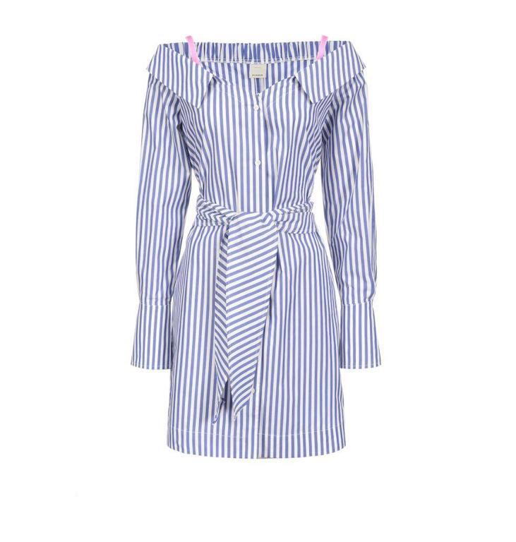 Pinko Blue/Soft White Dress Ingioiellare