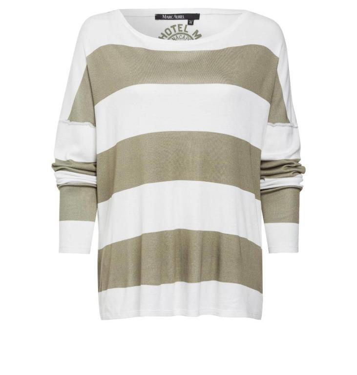Marc Aurel White/Green Tshirt 7561