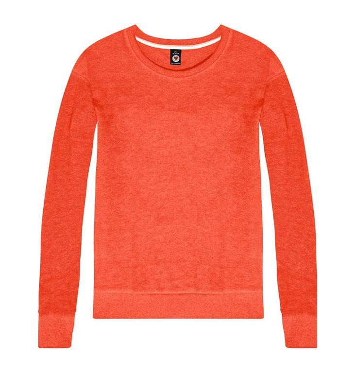 Amsterdam Blauw Red Burn Out Sweat 133024