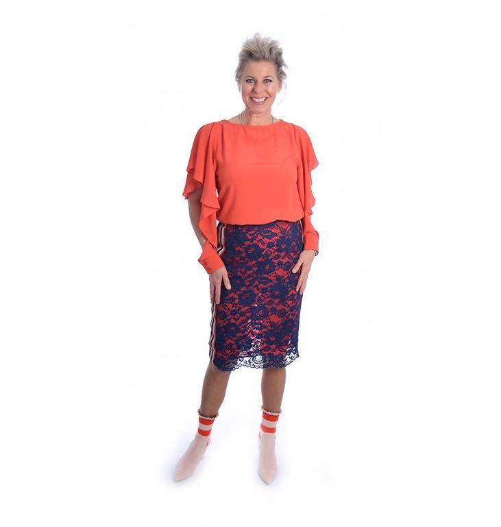 Pinko Orange Bethany Blouse 1B1336