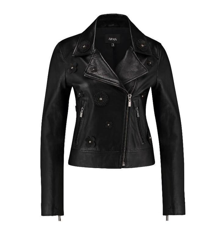Arma Black Leather Jacket Andy