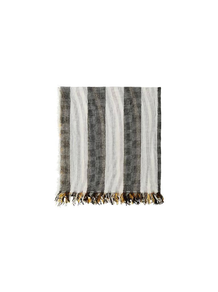 10Days Black Blue Mix Stripe Scarf 20.904.8101