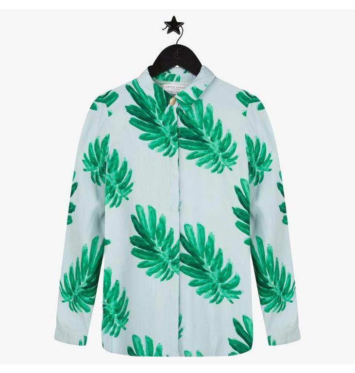 Fabienne Chapot Green Perfect Blouse #CLT11BLS