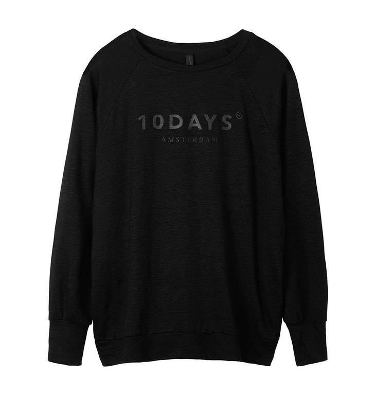 10Days Black Thin Sweater 20.773.8101