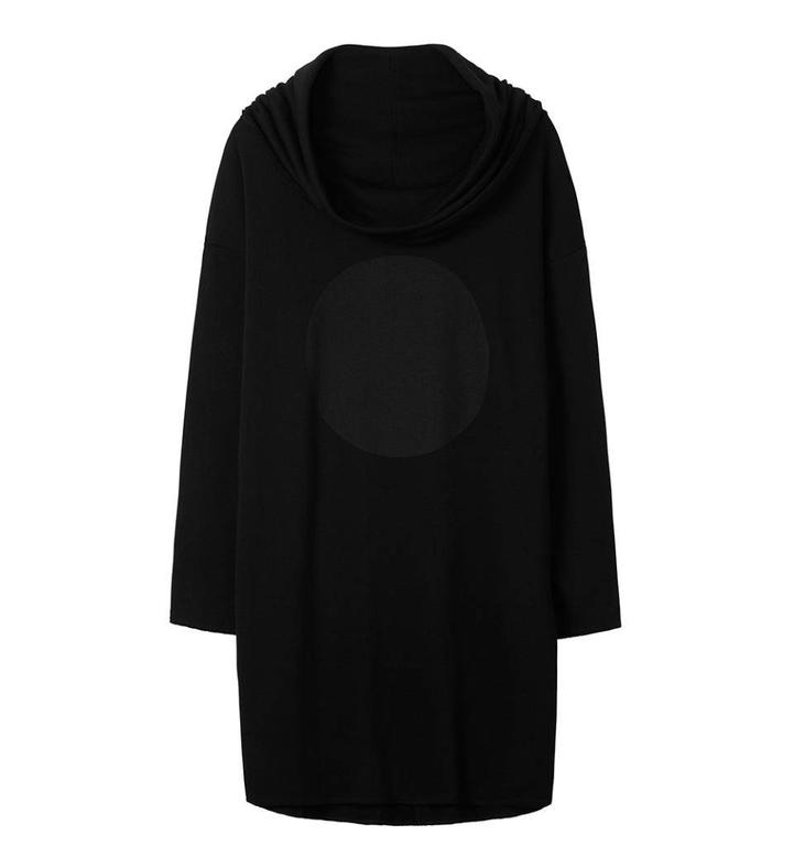 10Days Black Cowl Sweatdress 20.332.8101