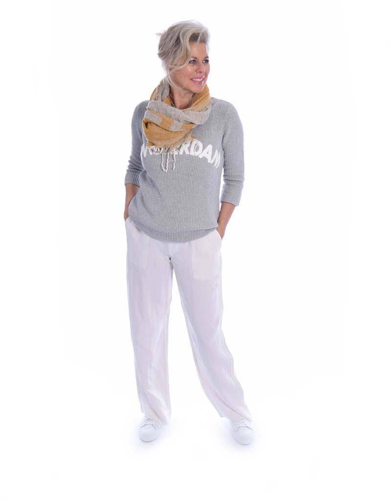 10Days Light Grey Melee Sweater Amsterdam 20.616.8101