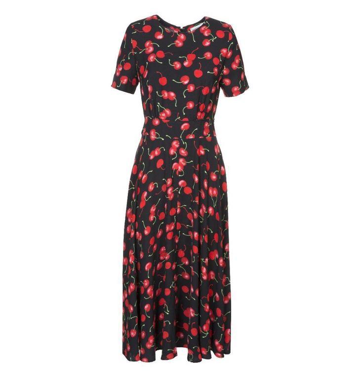 Essentiel Black Cherry Dress Pear