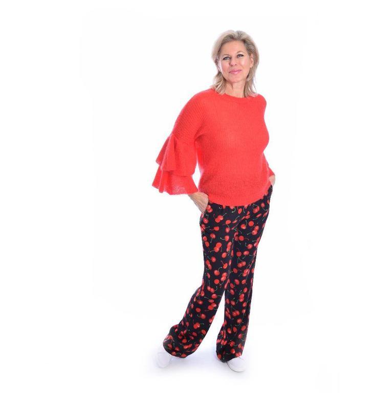 Essentiel Black Cherry Pants Paella