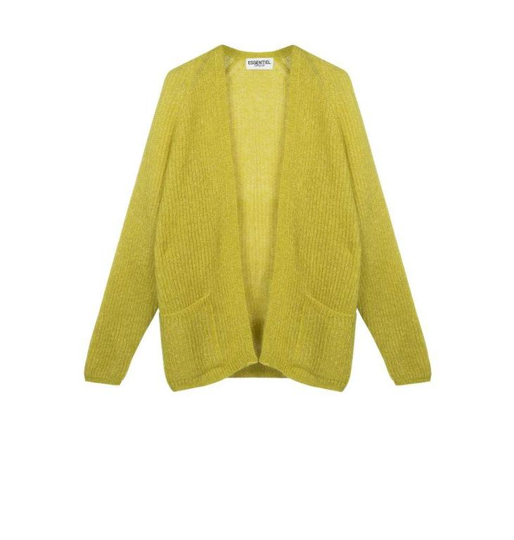 Essentiel Yellow More Than Mohair1 Cardigan Pamoison