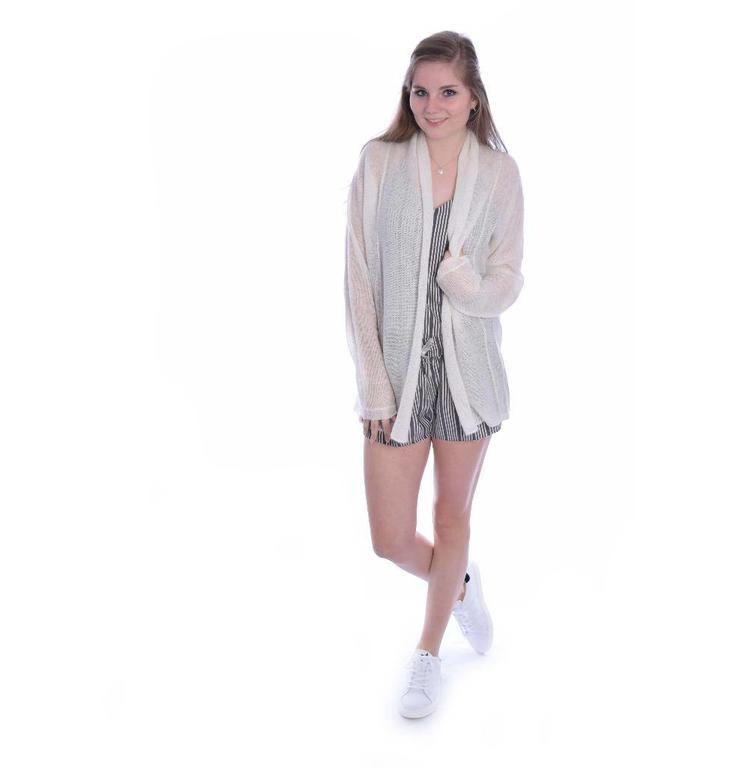 10Days White Wool Cardigan 20.651.8101
