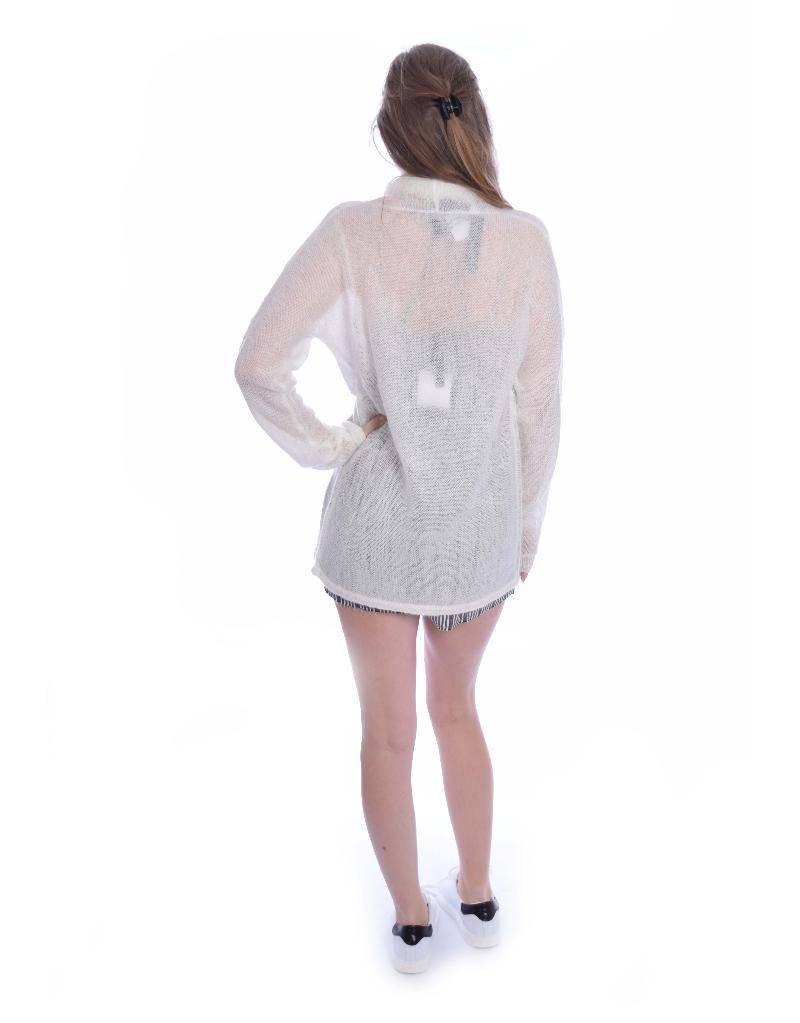 10Days White Wool Cardigan 20.651.8101