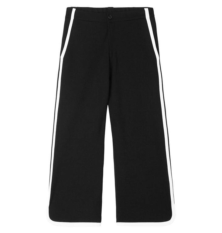 10Days Black Contrast Pants 20.040.8101