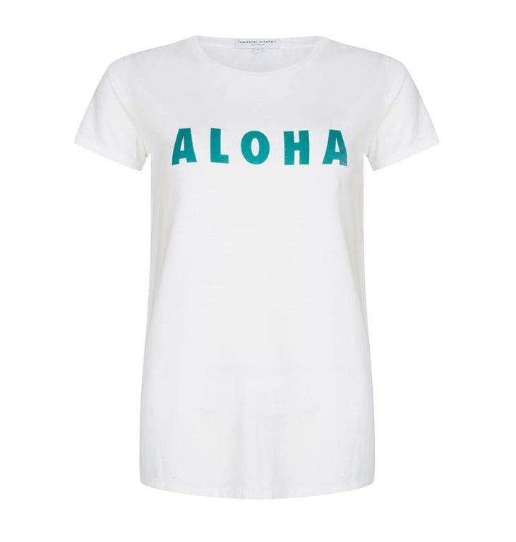 Fabienne Chapot White Aloha T-shirt #CLT.01