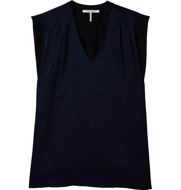 Maison Scotch Black Sleeveless Silky Feel Top 143449
