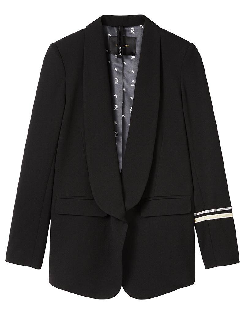 10Days Black Smoking Blazer 20.500.7104