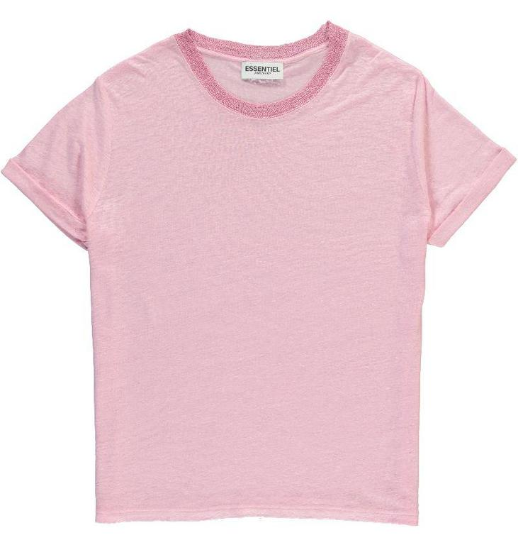 Essentiel Antwerp Pink Flawless Glow T-shirt