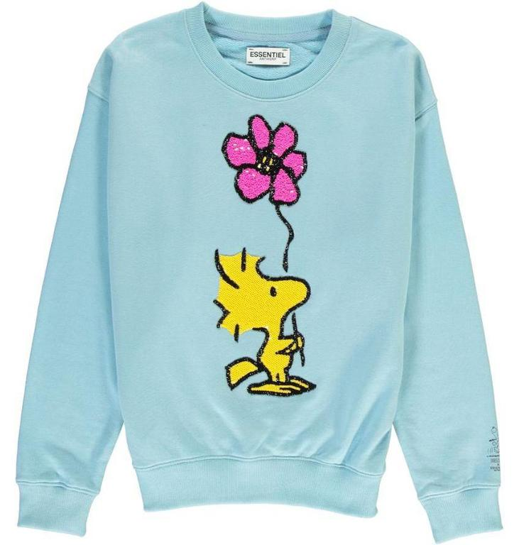 Essentiel Antwerp Blue Woodstock Love Sweater Papas