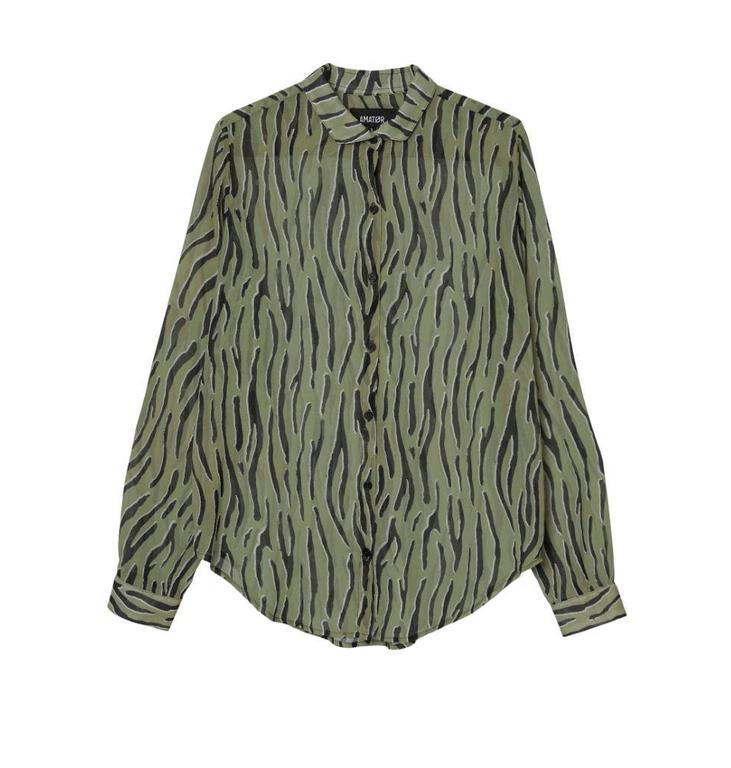 Amator Green Zebra Blouse Vancouve