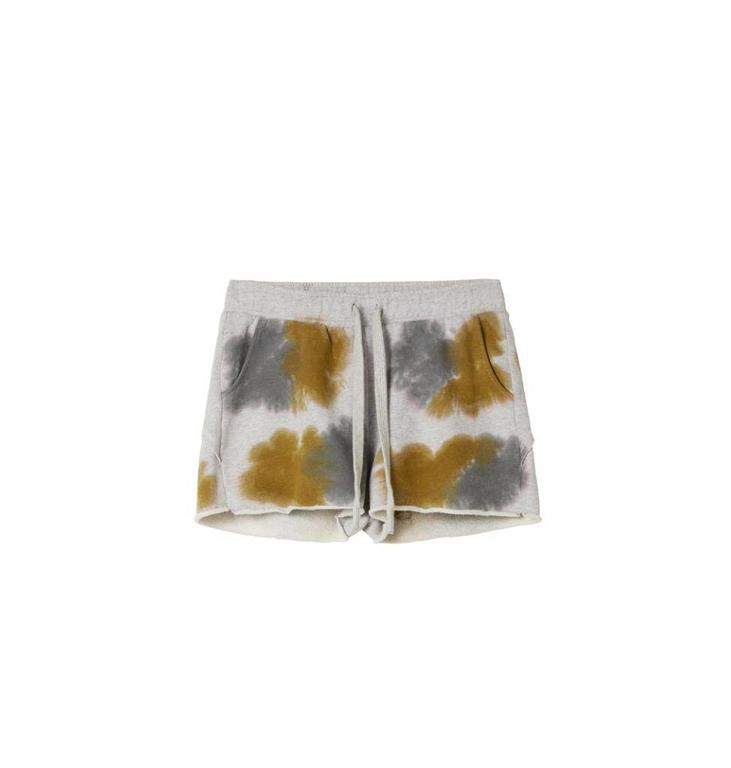 10Days Light Grey Melee Shorts Tie Dye 20.205.8101