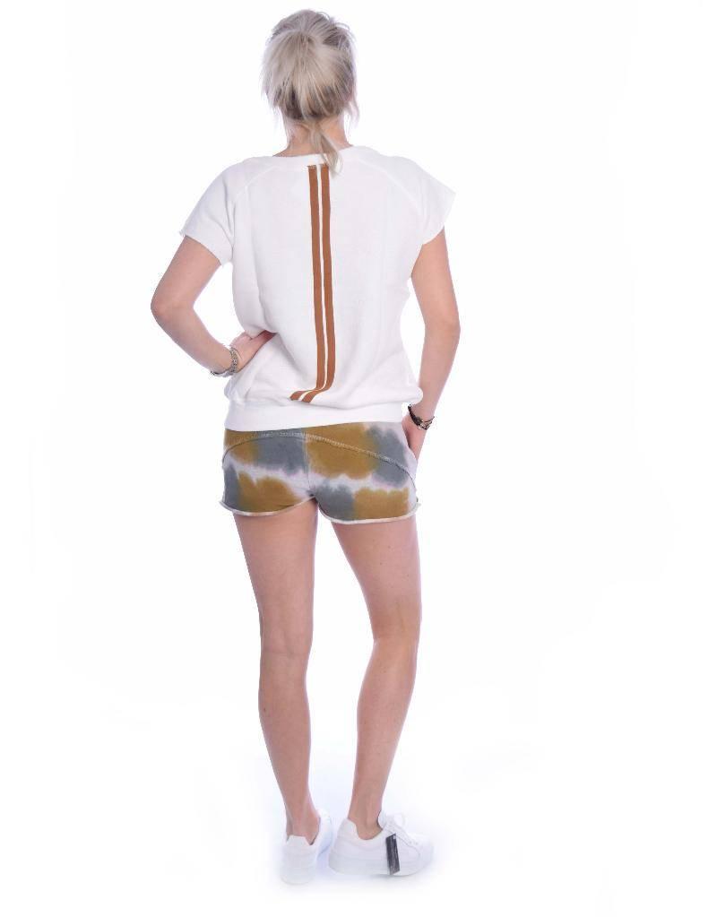 10Days Light Grey Melee Shorts Tie Dye 20.205.8101