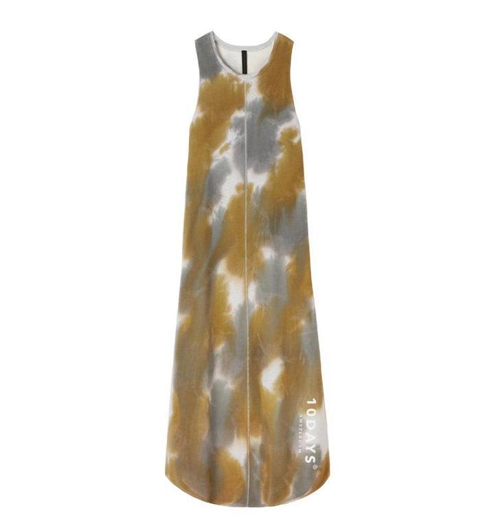 10Days Light Grey Melee Long Dress Tie Dye 20.312.8101