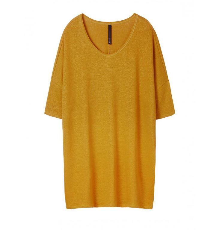 10Days Dark Mustard V-Neck Dress 20.344.8101