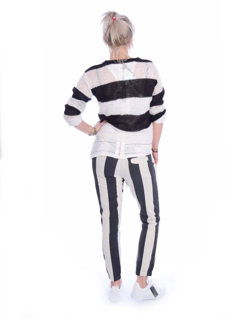 10Days Black/White Sweater Stripe 20.613.8101