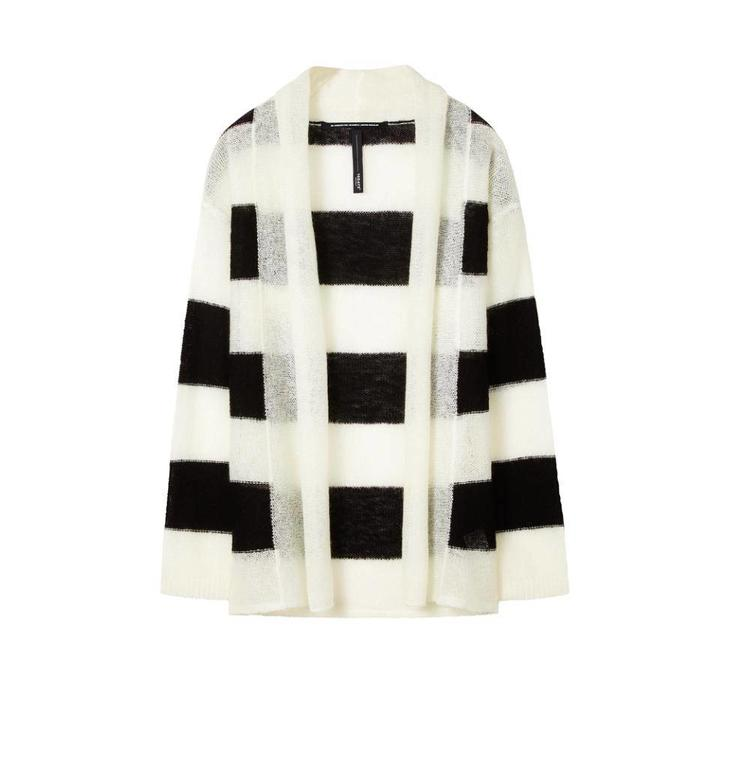 10Days Black/White Cardigan Stripe 20.652.8101