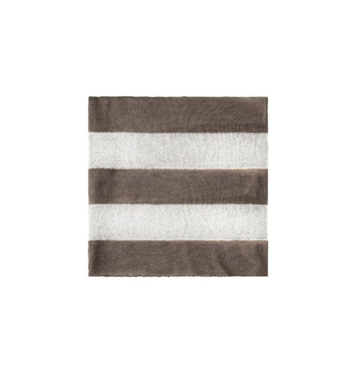 10Days Ecru /Light Brown Scarf Stripe 20.690.8101