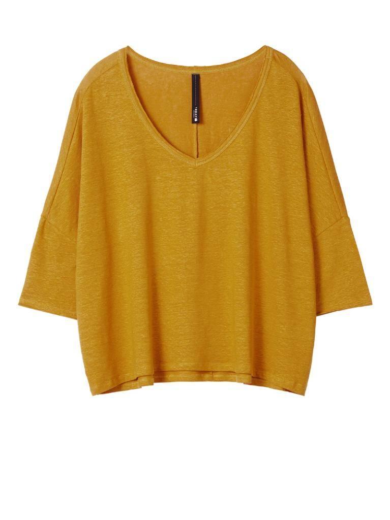 10Days Dark Mustard V-Neck Longsleeve 20.786.8101