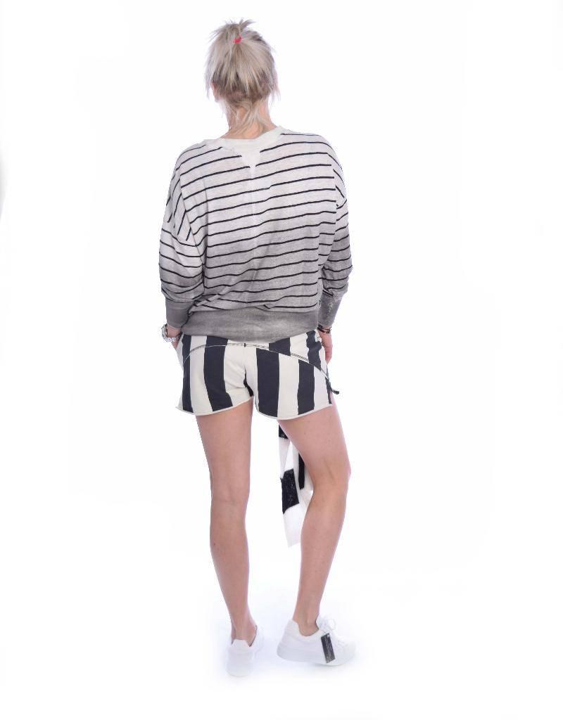 10Days Ecru/Black Thin Sweater 20.788.8101