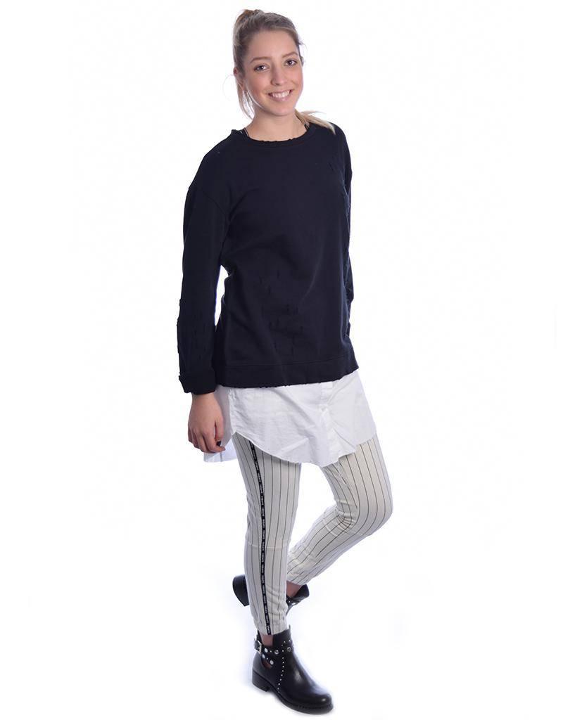 10Days Black Destroyed Sweater 20.818.8101
