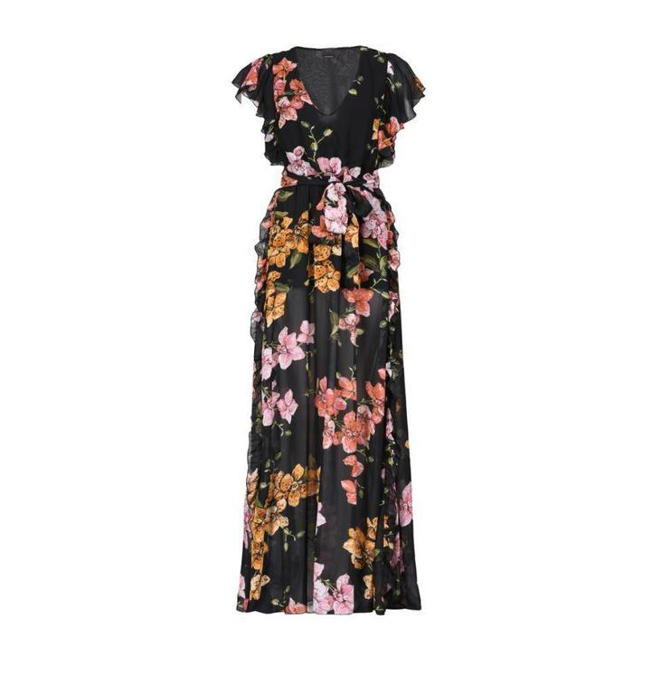 Pinko Black/Multicolour Blanch Dress 1B138S