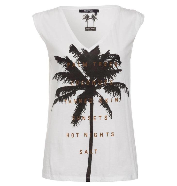 Marc Aurel Soft White T-shirt 7598