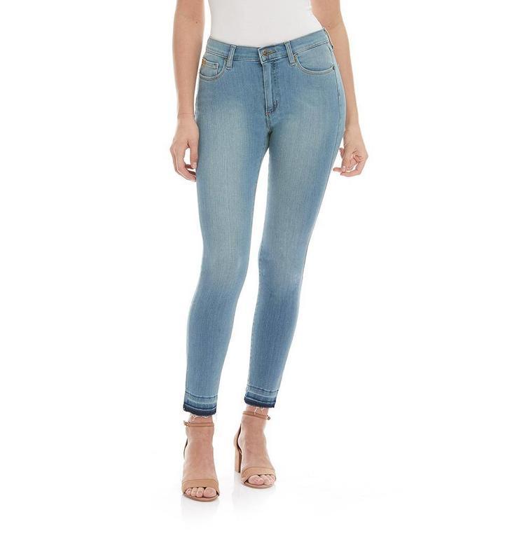 Yoga Jeans Denim Blue Cropped Skinny Jeans R28/1674.EU