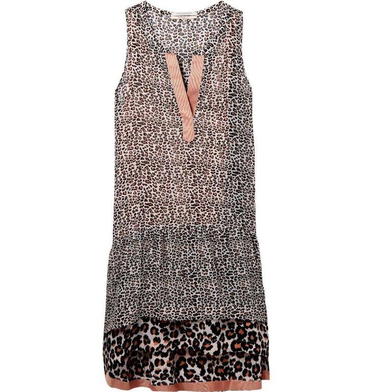 Maison Scotch Leopard Sleeveless Print Dress 143478