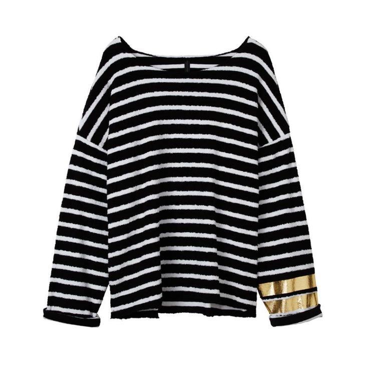 10Days Black/White Sweater Towel Stripe 20.817.8102