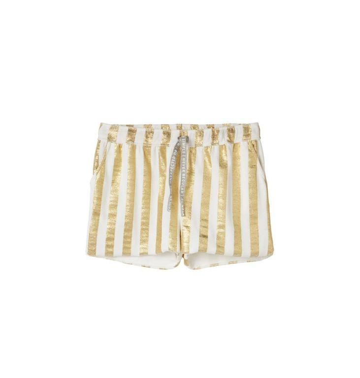 10Days White Towel Stripe Short Gold 20.208.8102