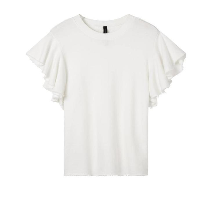10Days White Ruffle Sweater 20.815.8102