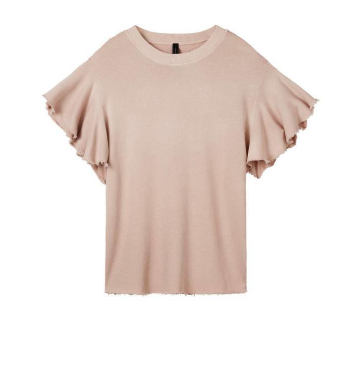 10Days Pale Pink Ruffle Sweater 20.815.8102
