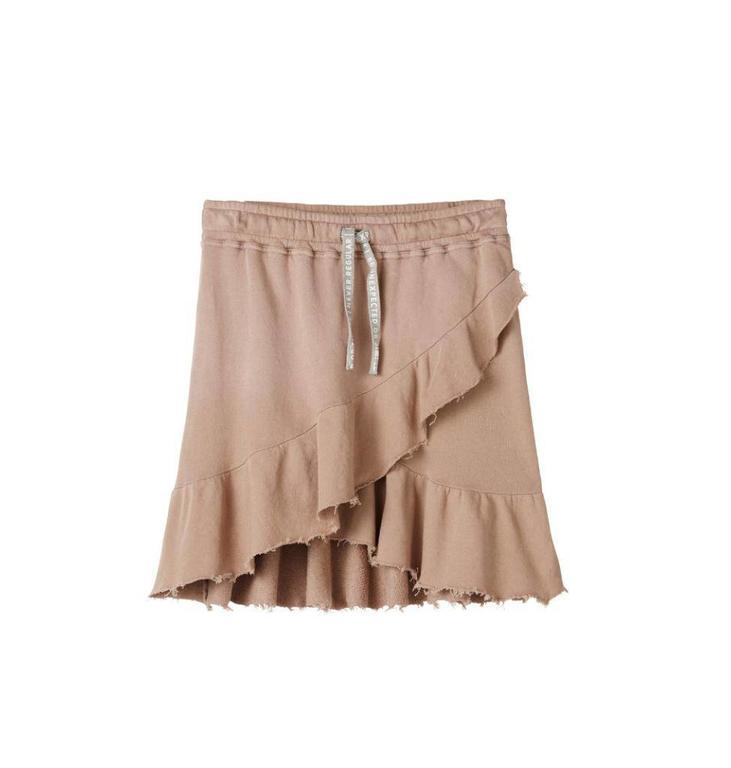 10Days Dark Pale Pink Wrap Skirt Open Fleece 20.105.8102