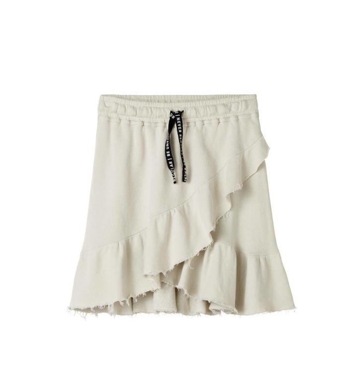 10Days Bone Wrap Skirt Open Fleece 20.105.8102