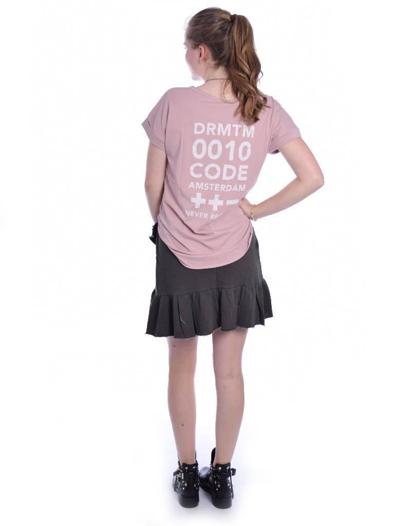 10Days Anthraciet Wrap Skirt Open Fleece 20.105.8102