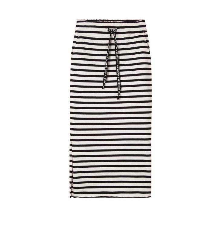 10Days Ecru/Black Skirt Stripe 20.102.8102