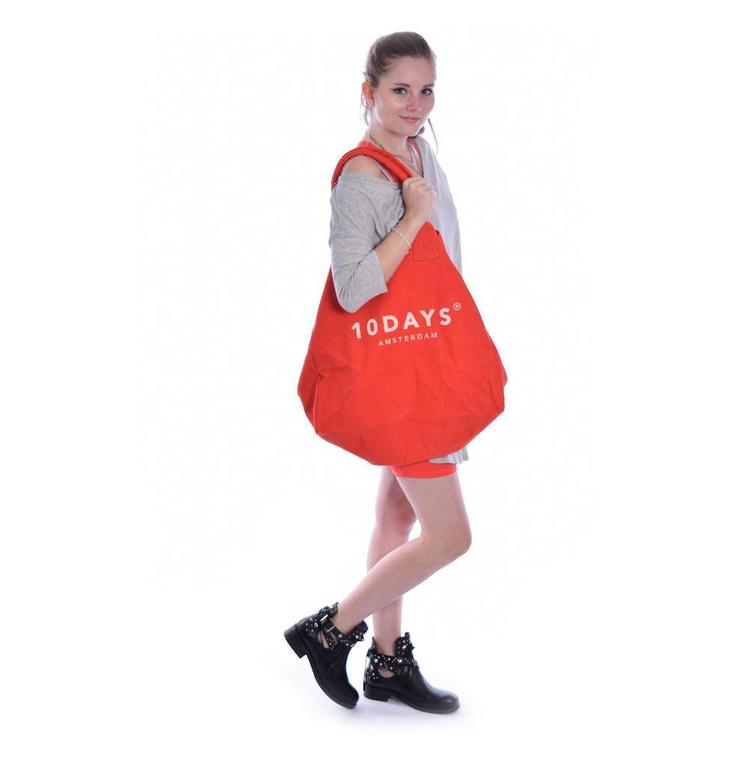 10Days Fluor Red Canvas Bag 20.961.8102