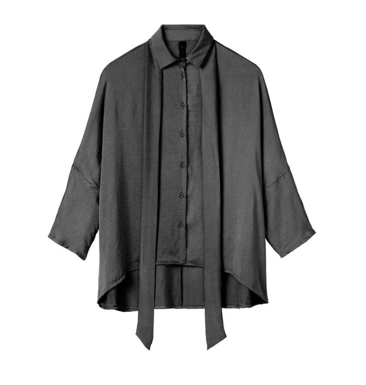 10Days Charcoal Blouse Silk Look 20.406.8102
