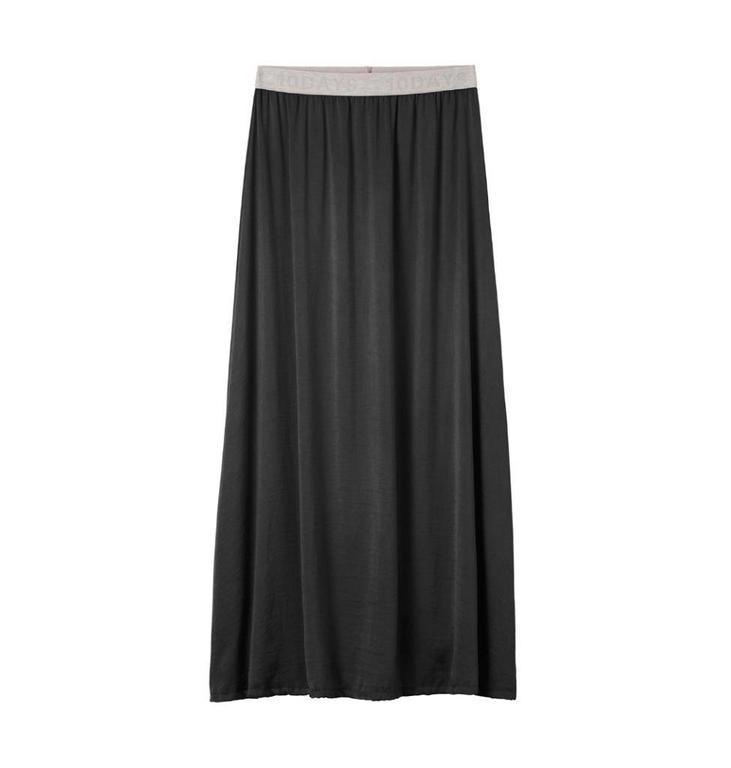 10Days Charcoal Maxi Skirt Silk Look 20.107.8102