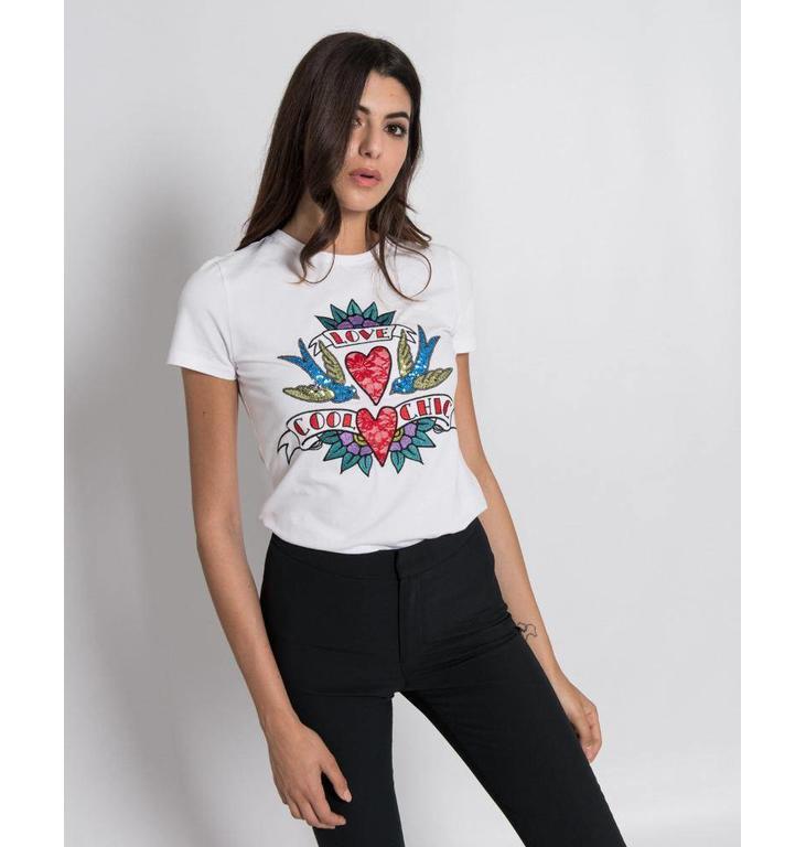 Silvian Heach White T-shirt Joselan 18918TS